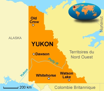 Carte de situation du territoire du Yukon {JPEG}